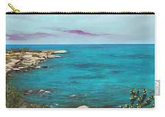 Carry-all Pouch featuring the painting Cyprus - Protaras by Anastasiya Malakhova
