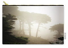 Carry-all Pouch featuring the photograph Cyprus Tree Grove In Fog by Craig J Satterlee