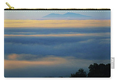 Carry-all Pouch featuring the photograph D8b6320 Mt. Diablo And Fog From Sonoma Mountain Ca by Ed Cooper Photography