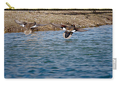 Gadwall Ducks - In Flight Side By Side Carry-all Pouch