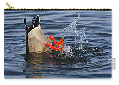 Dabbling - Mallard Carry-all Pouch by Tony Beck