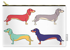 Dogs Digital Art Carry-All Pouches