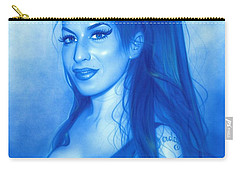 Amy Winehouse - ' Daddy's Girl ' Carry-all Pouch by Christian Chapman Art
