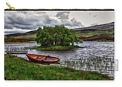 Carry-all Pouch featuring the painting Dads Fishing Spot P D P by David Dehner