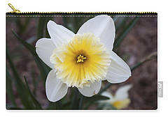 Carry-all Pouch featuring the photograph Daffodil At Black Creek by Jeff Severson