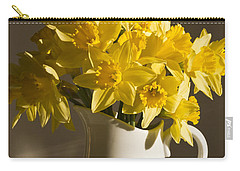 Daffodil Filled Jug Carry-all Pouch by Sandra Foster