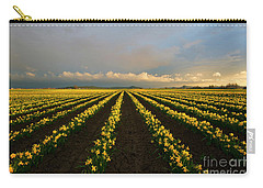Carry-all Pouch featuring the photograph Daffodil Storm by Mike Dawson