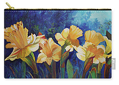 Daffodils Carry-all Pouch by Alika Kumar