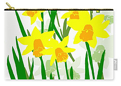 Daffodils Drawing Carry-all Pouch