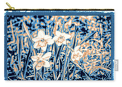 Daffodils In Print Carry-all Pouch by Rena Trepanier