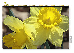 Carry-all Pouch featuring the photograph Daffodils In Spring by Sheila Brown