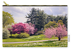 Carry-all Pouch featuring the photograph Daffodils On A Hill by Jessica Jenney