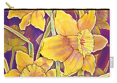 Carry-all Pouch featuring the mixed media Daffodils by Teresa Ascone