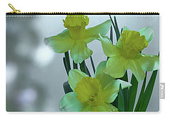 Daffodils3 Carry-all Pouch by Loni Collins