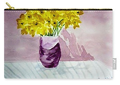 Carry-all Pouch featuring the painting Daffs by Jamie Frier