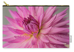 Carry-all Pouch featuring the photograph Dahlia After The Rain by Mary Jo Allen