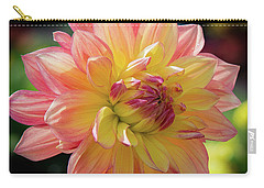 Carry-all Pouch featuring the photograph Dahlia In The Sunshine by Phil Abrams
