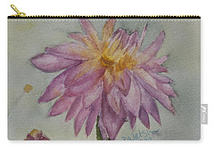 Carry-all Pouch featuring the painting Dahlia At Eastport Me by Donna Walsh