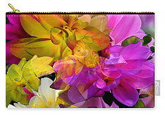 Carry-all Pouch featuring the digital art Dahlia Fantasy by Hanne Lore Koehler