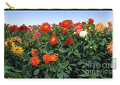 Dahlia Flower Panorama Carry-all Pouch