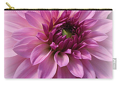 Dahlia Lovely In Lavender Carry-all Pouch by Dora Sofia Caputo Photographic Art and Design