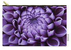 Dahlia Macro In Lavender Carry-all Pouch