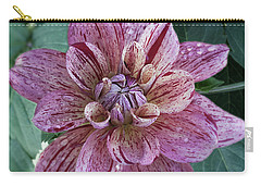 Carry-all Pouch featuring the photograph Dahlia 'nonette' by Ann Jacobson