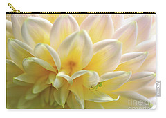 Carry-all Pouch featuring the photograph Dahlia Patterns By Kaye Menner by Kaye Menner