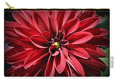 Dahlia Radiant In Red Carry-all Pouch by Dora Sofia Caputo Photographic Art and Design