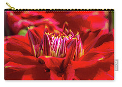Dahlia Study 1 Painterly Carry-all Pouch