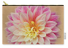 Carry-all Pouch featuring the photograph Dahlia With Golden Background by Mary Jo Allen