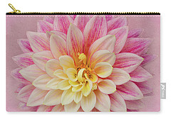 Carry-all Pouch featuring the photograph Dahlia With Pink Texture by Mary Jo Allen