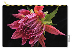 Carry-all Pouch featuring the photograph Dahlia 'wynn's King Salmon' by Ann Jacobson