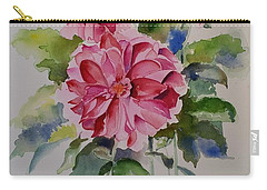 Dahlias Still Life Flowers Carry-all Pouch by Geeta Biswas
