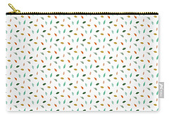 Carry-all Pouch featuring the drawing Dainty Leaves by Jocelyn Friis