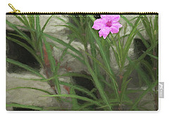 Carry-all Pouch featuring the photograph Dainty Pink by Penny Lisowski