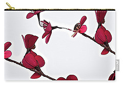 Dainty Red Double Stem  Carry-all Pouch by Kirt Tisdale