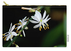 Carry-all Pouch featuring the photograph Dainty White by Lora Lee Chapman