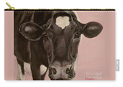 Dairy Cow Princess In Pink Carry-all Pouch