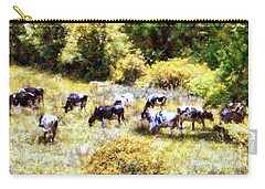 Dairy Cows In A Summer Pasture Carry-all Pouch