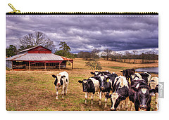 Dairy Heifer Groupies The Red Barn Art Carry-all Pouch