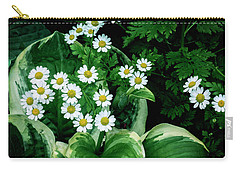 Daisies And Hosta In Colour Carry-all Pouch