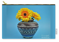 Daisies Displayed In Navajo Native American Vase Carry-all Pouch