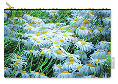 Carry-all Pouch featuring the photograph Daisies Galore by Tom Singleton