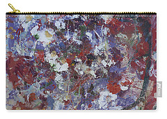 Carry-all Pouch featuring the painting Daisies In Purple by Avonelle Kelsey