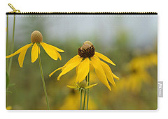 Carry-all Pouch featuring the photograph Daisies In The Mist by Maria Urso