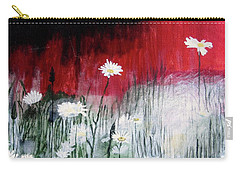 Daisies Carry-all Pouch by Mary Ellen Frazee