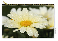Carry-all Pouch featuring the photograph Daisy After Shower by Angela Rath
