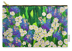 Daisy And Glads Carry-all Pouch by George Riney