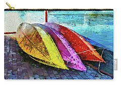Carry-all Pouch featuring the photograph Daisy And The Rowboats by Thom Zehrfeld